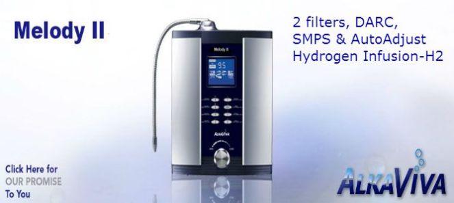 AlkaViva H2 Melody II H2 Wasser-Ionisator-Reiniger (2 Filters)