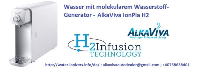 AlkaViva ionpia H2 molekularem Wasserstoff wasser- Generator
